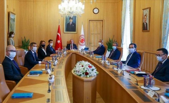 TBMM Başkanı Mustafa Şentop AİHM Başkanı Spano'yu kabul etti