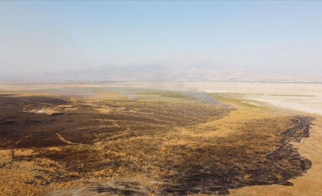 Kayseri'de Sultan Sazlığı Milli Parkı'nda yangın çıktı