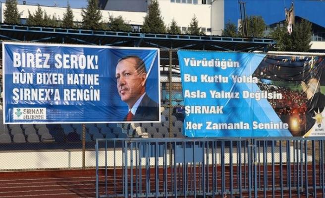 Şırnak'ta Cumhurbaşkanı Erdoğan heyecanı