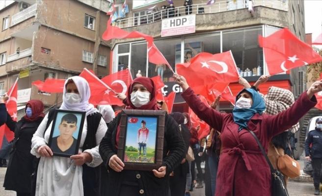 Şırnak'ta terör mağduru ailelerden 'Kahrolsun PKK, iş birlikçi HDP' sesleri