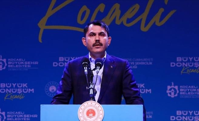 Bakan Kurum: Her yıl 300 bin konut dönüştürülüyor