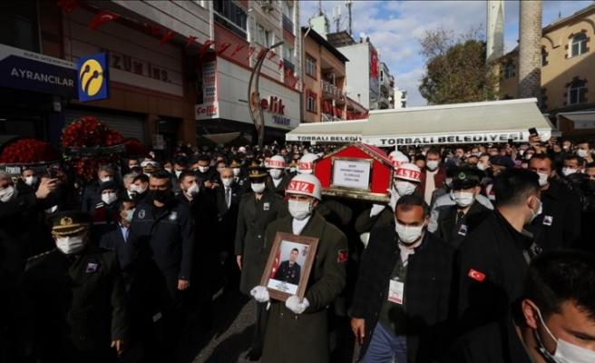 Çığ şehidi İzmir'de son yolcuğuna uğurlandı