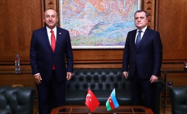 Dışişleri Bakanı Mevlüt Çavuşoğlu Bayramov ile görüştü