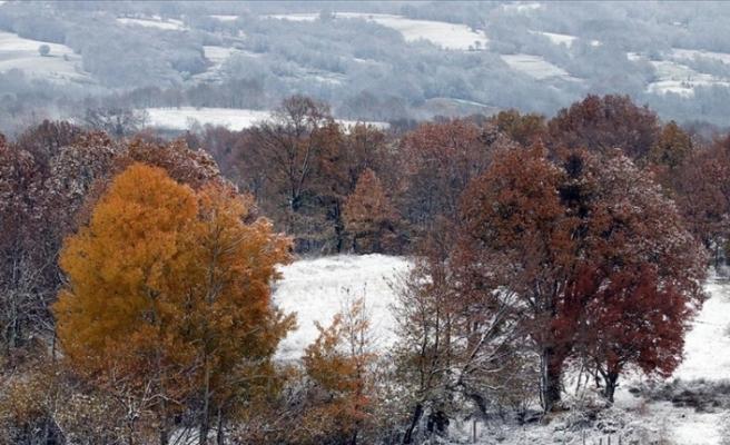 Yıldız Dağları kar yağışıyla beraber güzelliğine güzellik kattı