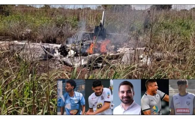 Brezilya'da futbolcuları ve kulüp başkanını taşıyan uçak düştü