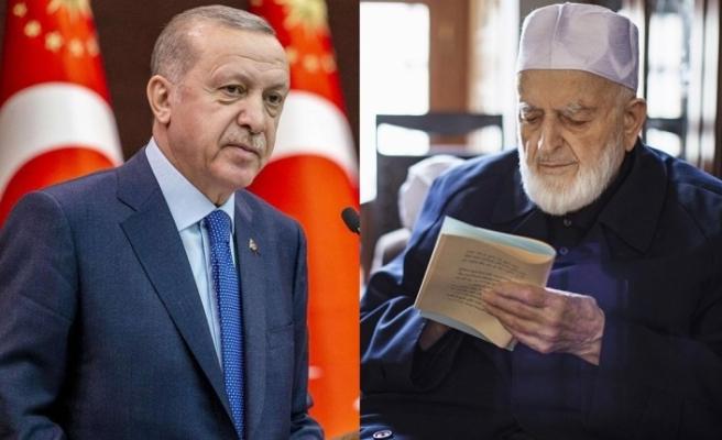 Cumhurbaşkanı Erdoğan'dan M. Emin Saraç Hocaefendi için taziye ilanı