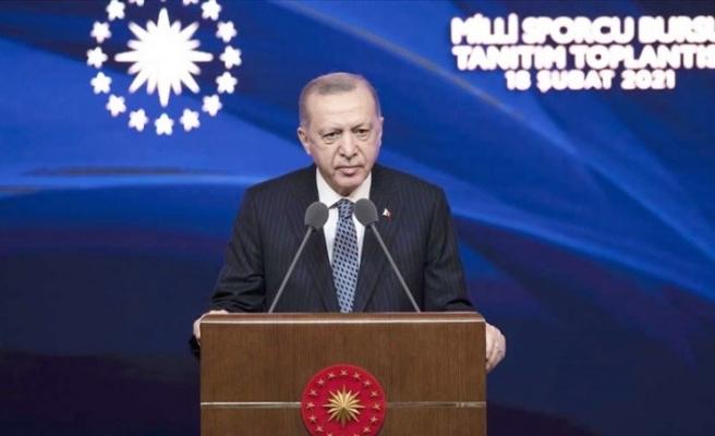 Erdoğan'dan sporcu bursu açıklaması