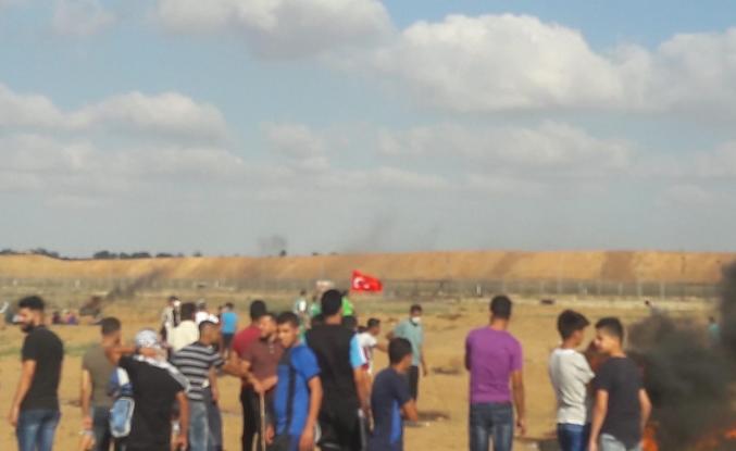 Gazze'den Türkiye'ye destek gösterisinden kareler