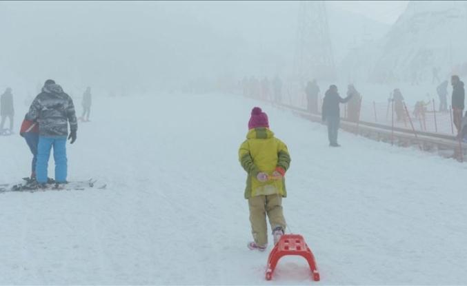 Kayakseverleri sis bile engelleyemedi