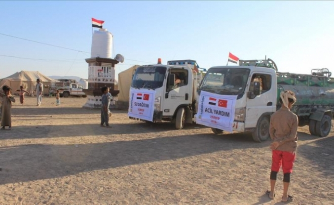 Sadakataşı Derneği'nden Yemen'e et ve su yardımı
