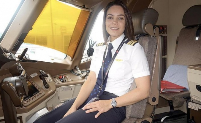 THY'nin Kolombiyalı kadın pilotu