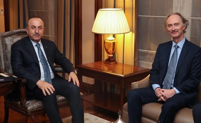 Çavuşoğlu ile BM Suriye Özel Temsilcisi Pedersen görüştü