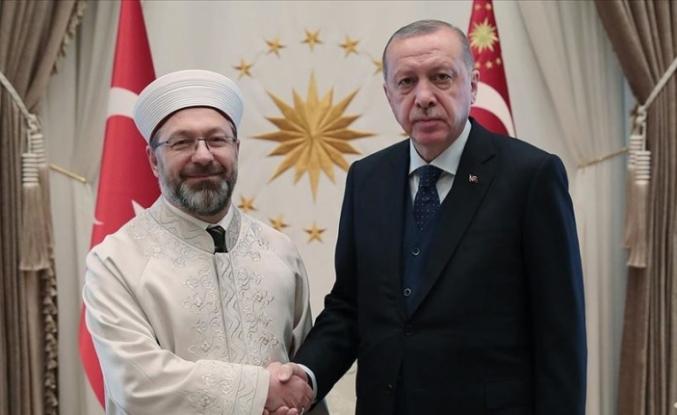 Cumhurbaşkanı Erdoğan, Erbaş'ı kabul etti