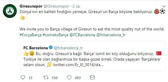 Giresunspor'dan Barcelona'ya ilginç teklif