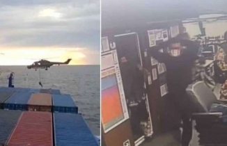 Türk gemisinde hukuk dışı arama kameralara yansıdı
