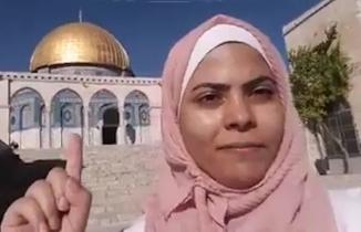 İsrail'in sakat bıraktığı genç kızın ağlatan Mescid-i Aksa mesajı
