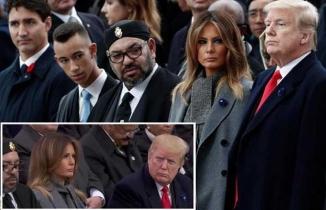 Fas Kralı'nın uyuyakalması, Trump'ı sinirlendirdi!