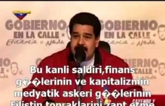 Venezuela Devlet Başkanı Maduro'nun Filistin konuşması